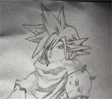 Cloud uit Kingdom Hearts fanart